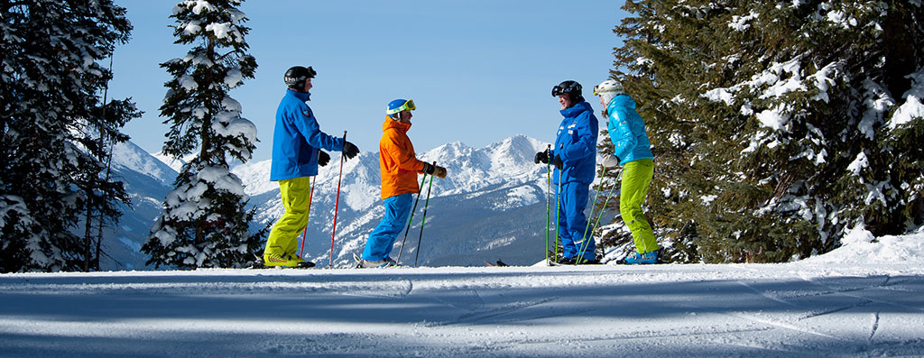 Skiers in Vail